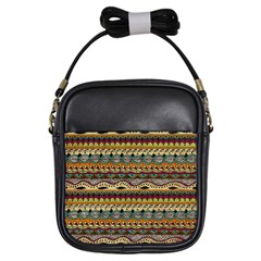 Aztec Pattern Ethnic Girls Sling Bags by BangZart