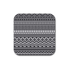 Aztec Pattern Design Rubber Square Coaster (4 Pack)  by BangZart