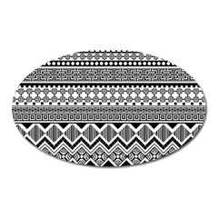 Aztec Pattern Design Oval Magnet by BangZart