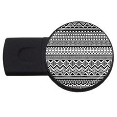 Aztec Pattern Design Usb Flash Drive Round (2 Gb) by BangZart