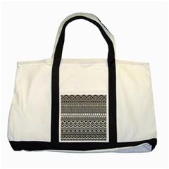Aztec Pattern Design Two Tone Tote Bag by BangZart