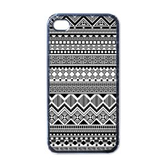 Aztec Pattern Design Apple Iphone 4 Case (black) by BangZart