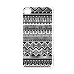 Aztec Pattern Design Apple Iphone 4 Case (white) by BangZart