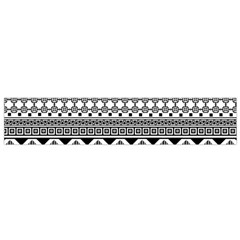 Aztec Pattern Design Flano Scarf (small) by BangZart
