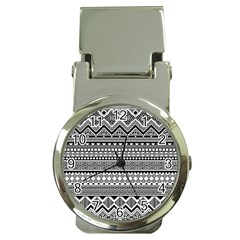 Aztec Pattern Design(1) Money Clip Watches by BangZart