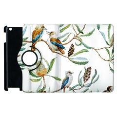 Australian Kookaburra Bird Pattern Apple Ipad 2 Flip 360 Case by BangZart