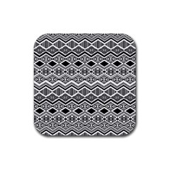 Aztec Design  Pattern Rubber Square Coaster (4 Pack)  by BangZart