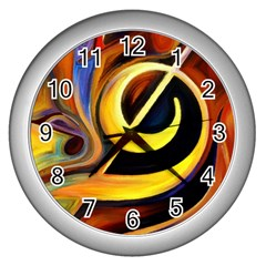 Art Oil Picture Music Nota Wall Clocks (silver)  by BangZart
