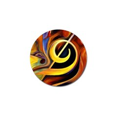 Art Oil Picture Music Nota Golf Ball Marker by BangZart