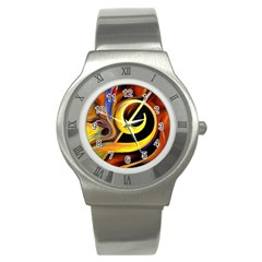 Art Oil Picture Music Nota Stainless Steel Watch by BangZart