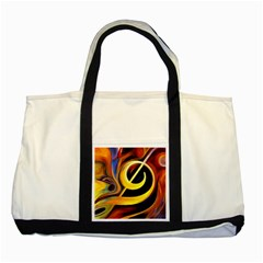 Art Oil Picture Music Nota Two Tone Tote Bag by BangZart