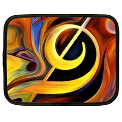 Art Oil Picture Music Nota Netbook Case (xl)  by BangZart