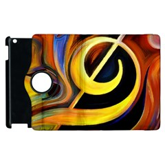 Art Oil Picture Music Nota Apple Ipad 2 Flip 360 Case by BangZart
