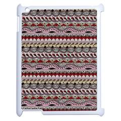 Aztec Pattern Art Apple Ipad 2 Case (white) by BangZart