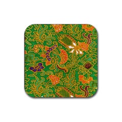 Art Batik The Traditional Fabric Rubber Square Coaster (4 Pack)  by BangZart