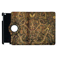 Art Indonesian Batik Apple Ipad 3/4 Flip 360 Case by BangZart