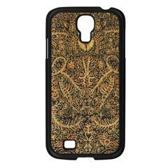 Art Indonesian Batik Samsung Galaxy S4 I9500/ I9505 Case (black) by BangZart