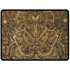 Art Indonesian Batik Double Sided Fleece Blanket (large)  by BangZart