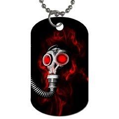 Gas Mask Dog Tag (two Sides) by Valentinaart