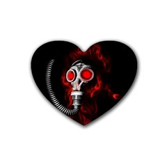 Gas Mask Rubber Coaster (heart)  by Valentinaart