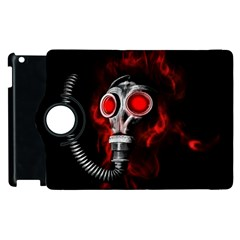 Gas Mask Apple Ipad 2 Flip 360 Case by Valentinaart