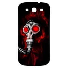 Gas Mask Samsung Galaxy S3 S Iii Classic Hardshell Back Case by Valentinaart