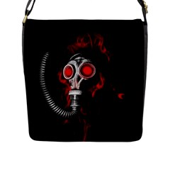 Gas Mask Flap Messenger Bag (l)  by Valentinaart
