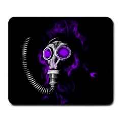 Gas Mask Large Mousepads by Valentinaart