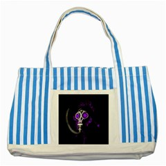 Gas Mask Striped Blue Tote Bag by Valentinaart
