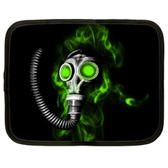 Gas Mask Netbook Case (large) by Valentinaart