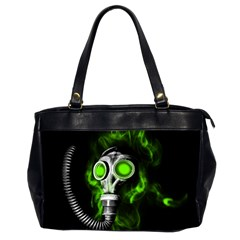 Gas Mask Office Handbags (2 Sides)  by Valentinaart