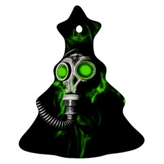Gas Mask Ornament (christmas Tree)  by Valentinaart