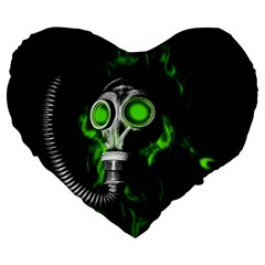 Gas Mask Large 19  Premium Heart Shape Cushions by Valentinaart