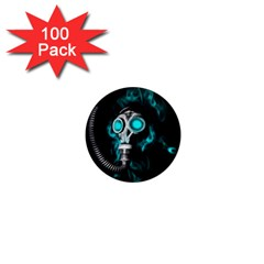 Gas Mask 1  Mini Magnets (100 Pack)  by Valentinaart