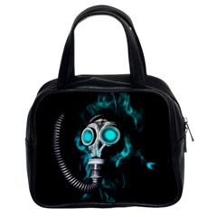 Gas Mask Classic Handbags (2 Sides) by Valentinaart