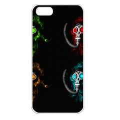 Gas Mask Apple Iphone 5 Seamless Case (white) by Valentinaart