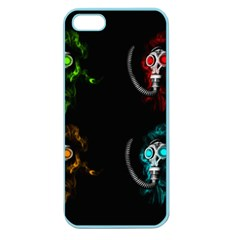 Gas Mask Apple Seamless Iphone 5 Case (color) by Valentinaart