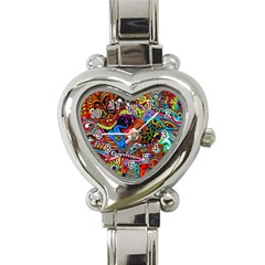 Art Color Dark Detail Monsters Psychedelic Heart Italian Charm Watch by BangZart