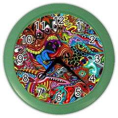 Art Color Dark Detail Monsters Psychedelic Color Wall Clocks by BangZart