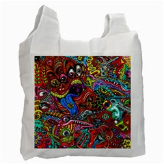 Art Color Dark Detail Monsters Psychedelic Recycle Bag (one Side) by BangZart