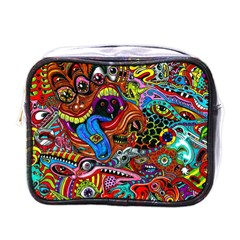 Art Color Dark Detail Monsters Psychedelic Mini Toiletries Bags by BangZart