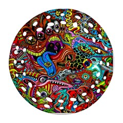 Art Color Dark Detail Monsters Psychedelic Round Filigree Ornament (two Sides) by BangZart