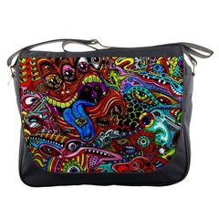 Art Color Dark Detail Monsters Psychedelic Messenger Bags by BangZart