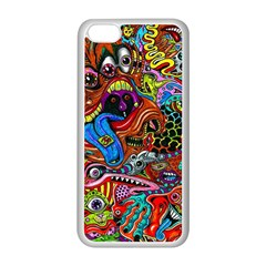 Art Color Dark Detail Monsters Psychedelic Apple Iphone 5c Seamless Case (white) by BangZart