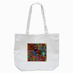 Art Color Dark Detail Monsters Psychedelic Tote Bag (white)