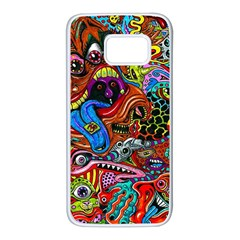 Art Color Dark Detail Monsters Psychedelic Samsung Galaxy S7 White Seamless Case
