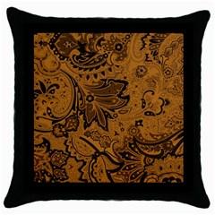 Art Traditional Batik Flower Pattern Throw Pillow Case (black) by BangZart