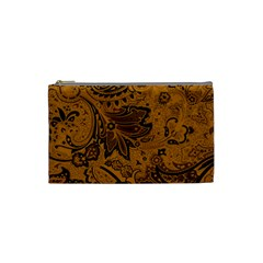 Art Traditional Batik Flower Pattern Cosmetic Bag (small)  by BangZart