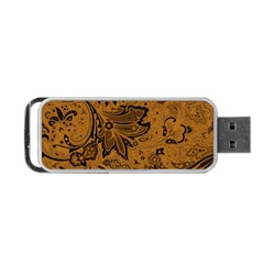Art Traditional Batik Flower Pattern Portable Usb Flash (two Sides) by BangZart