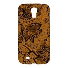 Art Traditional Batik Flower Pattern Samsung Galaxy S4 I9500/i9505 Hardshell Case by BangZart